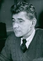 1951 Portrait of an American composer, conductor, author, music lecturer, and pianist Leonard Bernstein.