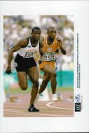 Bruny Surin and Edu Bonifacio run 100m under the Olympic Games in Atlanta in 1996