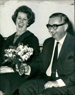 Lord George Brown with Mrs Brown in a funny moment
