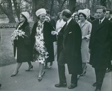 Princess Beatrix of the Netherlands was greeted as she arrived.