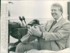 President Jimmy Carter relaxes during an interview in the Oval Office of the White House