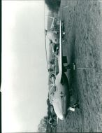 View of plane in the field.