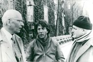 "Sir Larurence Olivier and Dustin Hoffman in the political thriller ""Marathon Man."""