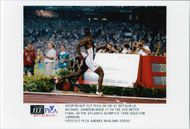 Michael Jonson wins gold at 200 meters during the Olympic Games in Atlanta in 1996