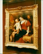 Sir Peter Paul Rubens: the holy family with the infant john the baptist.