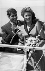 Prince Andrew and the wife Sarah participated during the launch of a ship.