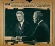 George Walker Bush with Bill Clinton.