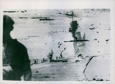 """The sinking of """"Hermes"""". Pictures were under sea water for four hours."""