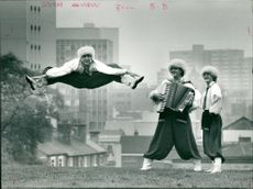 Dance: Members of the Maseppa, Ukranian Cossack Dance Troupe: Joseph Miles, Michael Baraniak and David Allen.
