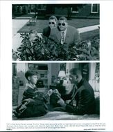 Different scenes from the film First Kid with Sinbad as Sam Simms, Brock Pierce as Luke Davenport and Blake Boyd as Dash, 1996.