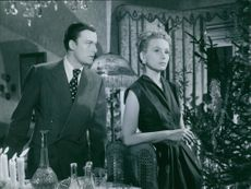 "Alf Kjellin and Doris Svedlund in the move ""Frånskild"" (Divorced) from 1951."