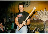 Sylvester Stallone in West End at the new Planet Hollywodd restaurant