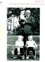 James Callaghan with triplets.