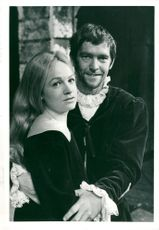 "Tom Courtenay och Bridget Turner under framträdandet av ""Shakespeare"""