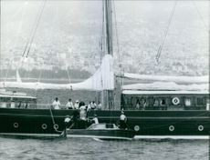 A photo of one of Stavros Niarchos' ships.