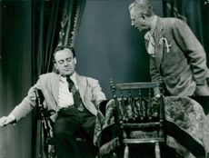 "Lars Hanson and Ulf Palme in Eugene O'Neill's ""Long Day's Ride to Night"" at the Drama Theater"