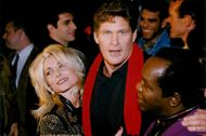 David Hasselhoff along with his wife Pamela Bach and co-star Lou Rawls