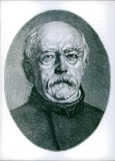 Portrait of Otto Bismarck.