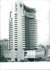 Picture of view of Intercontinental hotel in Bucharest.