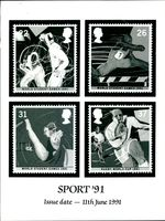 Stamps: British Commonwealth: Sport '91.