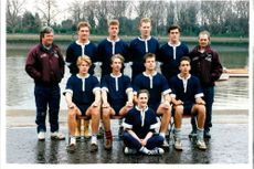 The Boat Race 1992's Cambridge crew members in a group photo