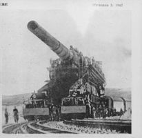 A missile launcher transported on trains using same side of the railway.  - Oct 1942