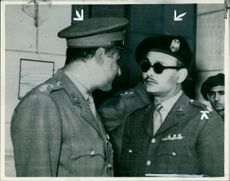 Maj. Salah Salem and Col. Nasser.