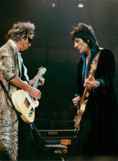 Keith Richards and Ron Wood during The Rolling Stones concert in the Globe