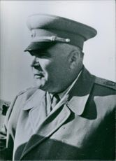 Close up of Soviet military commander and former minister Marshal Rodion Malinovsky