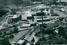Overview of Skärblacka-Ljusfors Use with the facilities 1960-1963 in the middle