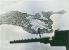 A top view from a plane of New Georgia Islands.