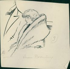 Photograph of a sketch of Anna Branting.