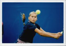 Anna Kournikova during the US Open.