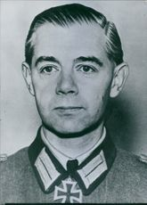 Portrait of former German army chief Gen, Walter Wenck.