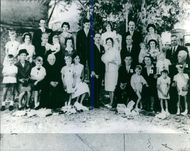 People in a group photograph.  1965 The murder of the family Gerd