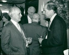 Hammond Innes British novelist with norman tebbit.