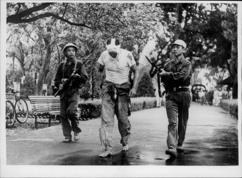 A deprived US pilot is officially wrecked by Vietnamese soldiers.