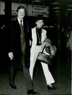 Roger Moore at Heathrow Airport
