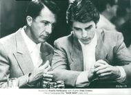 "Dustin Hoffman like Raymond ""Ray"" Babbitt and Tom Cruise like Charlie Babbitt in Barry Levinson's Oscar-winning movie ""Rainman""."