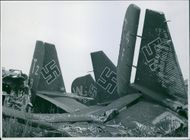 The utter desolation at Tunis airport after the Allied bombers had pounded the aerodrome during our lightning advance.