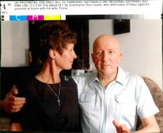 Entertainer Roy Castle pictured at home with his wife Fiona castle.