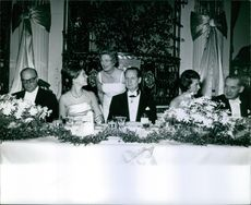 Princess Birgitta of Sweden along with some people.