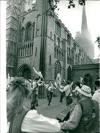 Kemp's Men welcomed in May Day in traditional style at sunrise in Norwich this morning.
