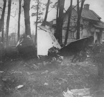 Plane crash near the houses in FInland.