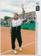 Stefan Edberg is celebrated by the Båstad Republic at the Swedish Open