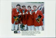 German team who competed and took home the win in horse jumping during the Olympics.
