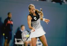 Anna Kournikova is playing in the US Open