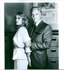 """Tanya Roberts and Christopher Walken in a scene from the movie """"A View to Kill"""", 1985."""