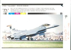 Aircraft: Military - US Airforce F-16 fighter jet.