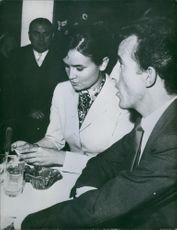 Members of the Ruspoli family sitting together and having communicating. Photo taken on March 12, 1962.